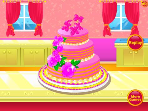 Wedding Cake Decoration - Sweet Cake Maker Games poster