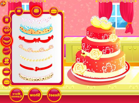 Wedding Cake Decoration - Sweet Cake Maker Games screenshot 3