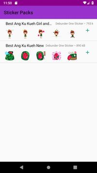 Best Ang Ku Kueh Girl Stickers WastickerApps 2019 poster