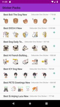 New Cute Dog Sticker Pack for Whatsapp 2019 poster