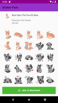 New Collection Fox Stickers for WAStickerApps 2019 screenshot 1