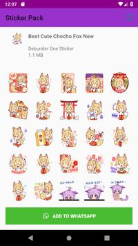 New Collection Fox Stickers for WAStickerApps 2019 screenshot 5