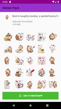 New Monkey Sticker Pack for WAStickerApps 2019 screenshot 3