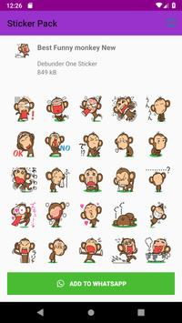 New Monkey Sticker Pack for WAStickerApps 2019 screenshot 4
