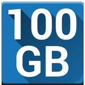 ikon 100 GB pencadangan gratis