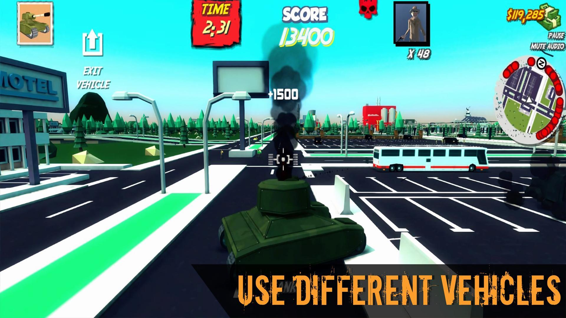 Poly City - Vengeance: Third person shooter cho Android