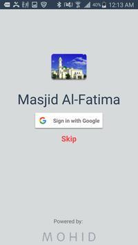 Masjid Al-Fatima poster