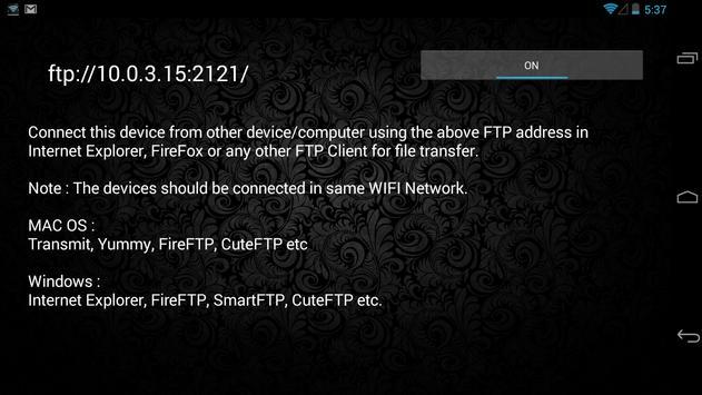 FTP Server(WIFI File Transfer) screenshot 4