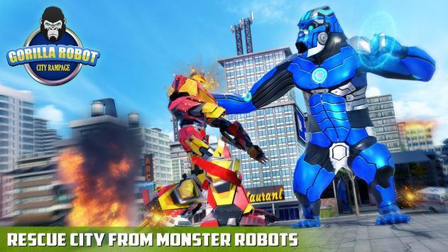 Ultimate Police Robot Transform: City Rampage screenshot 1