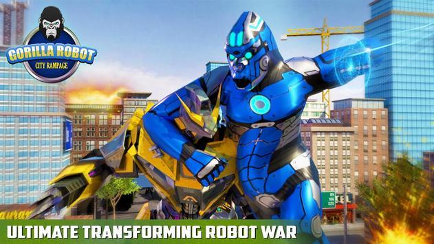 Ultimate Police Robot Transform: City Rampage screenshot 2