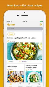 Good food – Eat clean recipes poster