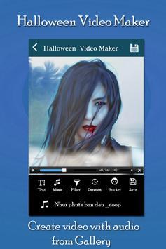 Halloween Video Slideshow Maker screenshot 1