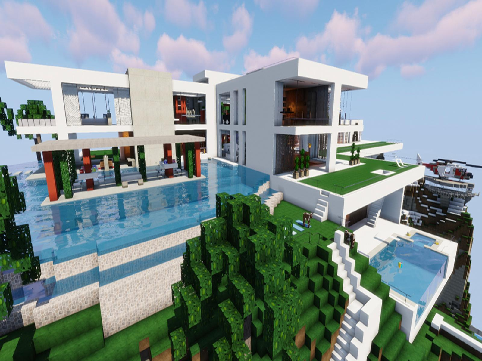 New modern house for minecraft for android apk download