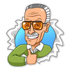Stickers Stan Lee ícone