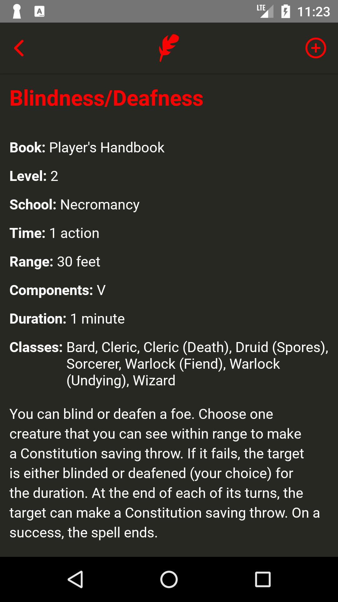 Spell List D&D 5th Edition for Android - APK Download