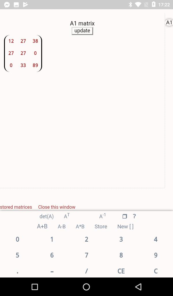 Matrix calculator for Android - APK Download