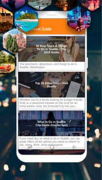 Seattle Guide - Top Things to Do poster