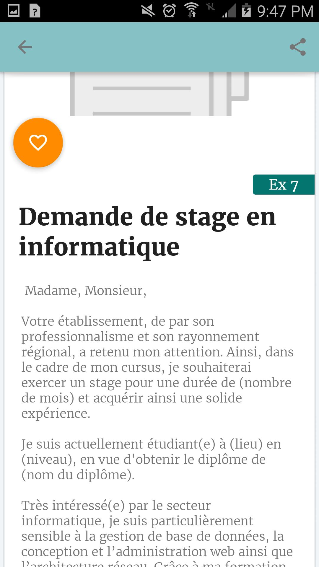 Demande De Stage For Android Apk Download
