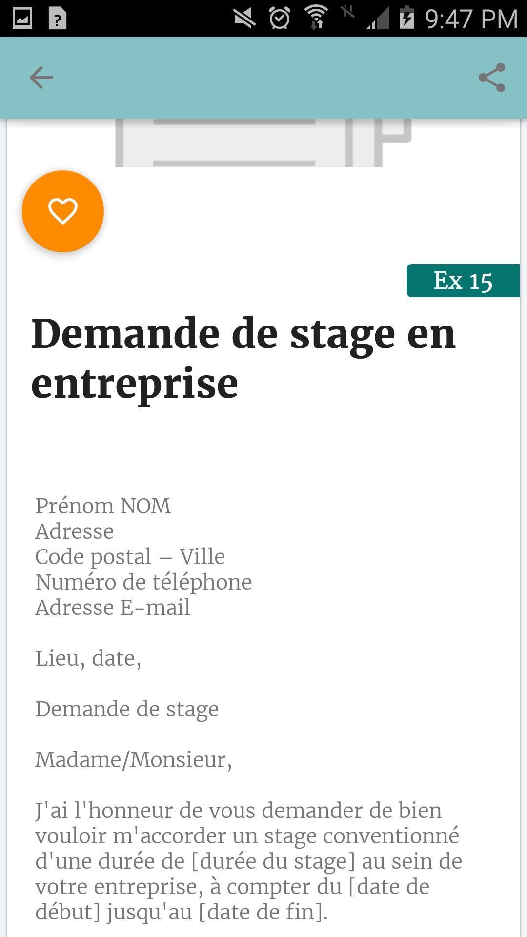 Demande De Stage For Android Apk Download