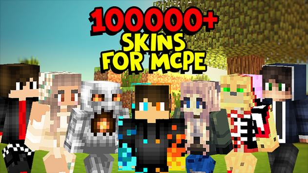 100000+ Skins World for Minecraft PE 2019 poster