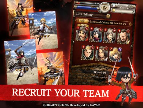 Attack on Titan TACTICS screenshot 4