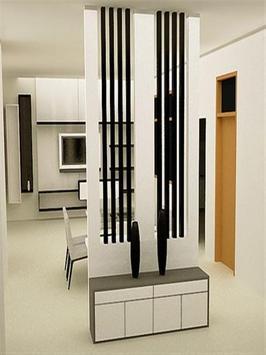 Modern Minimalist Room Divider Design poster