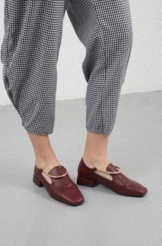 Women's flat shoes design poster