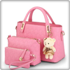 design of women's leather bags icon