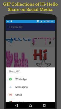 Hi Hello Gif 👋Collection screenshot 5