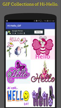 Hi Hello Gif 👋Collection screenshot 1