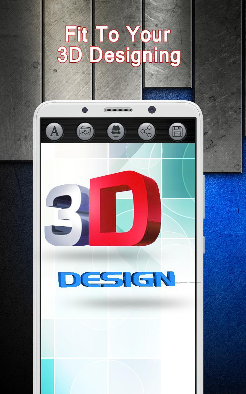 3d Design Art Text Logo Maker For Android Apk Download