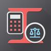 آلة حاسبة من وزن المعدن أيقونة