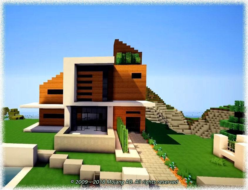 Maisons Modernes Minecraft Pe Mod Pour Android Telechargez L Apk