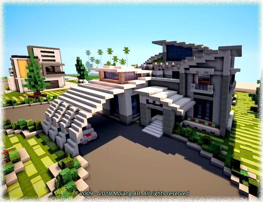 Android ǔ¨ã® Modern Houses Minecraft Pe Mod Apk 'ダウンロード
