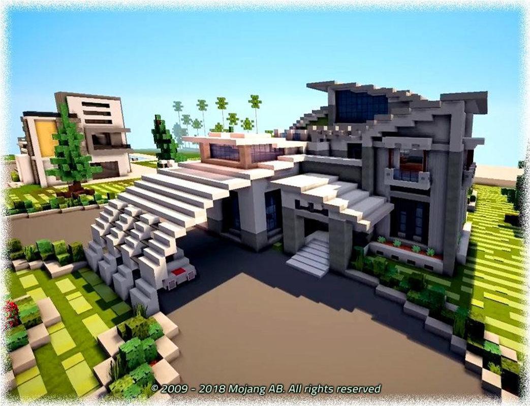 Modern houses minecraft pe mod screenshot 2