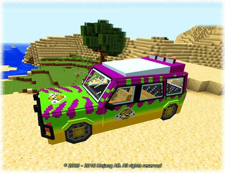 Cars for Minecraft PE Mod poster