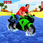 Beach Water Surfer Bike Rider: Motorcycle Stunts APK