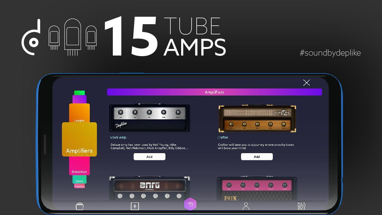 the 1 guitar effects pedals guitar amp deplike for android apk download. Black Bedroom Furniture Sets. Home Design Ideas