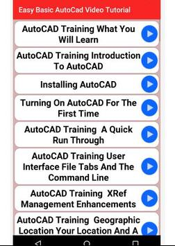 Easy Basic  AutoCad Video Tutorial poster