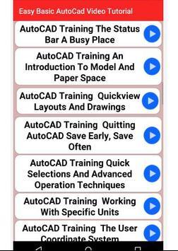 Easy Basic  AutoCad Video Tutorial screenshot 2