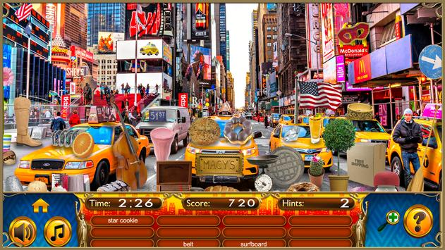 Hidden Objects New York City Puzzle Object Game screenshot 13