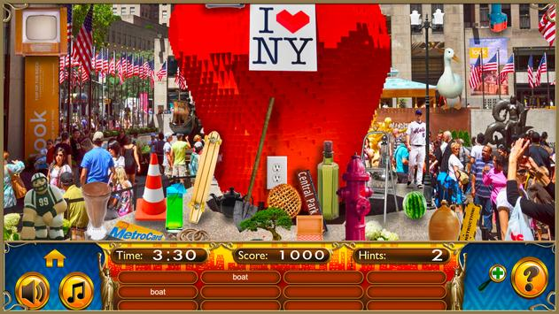 Hidden Objects New York City Puzzle Object Game screenshot 1