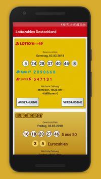 Lottozahlen Deutschland poster