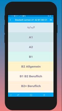 Deutsch Lernen A1 A2 B1 B2 C1 poster