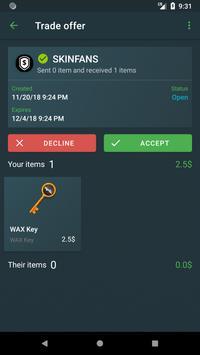 Trade Client WAX screenshot 2