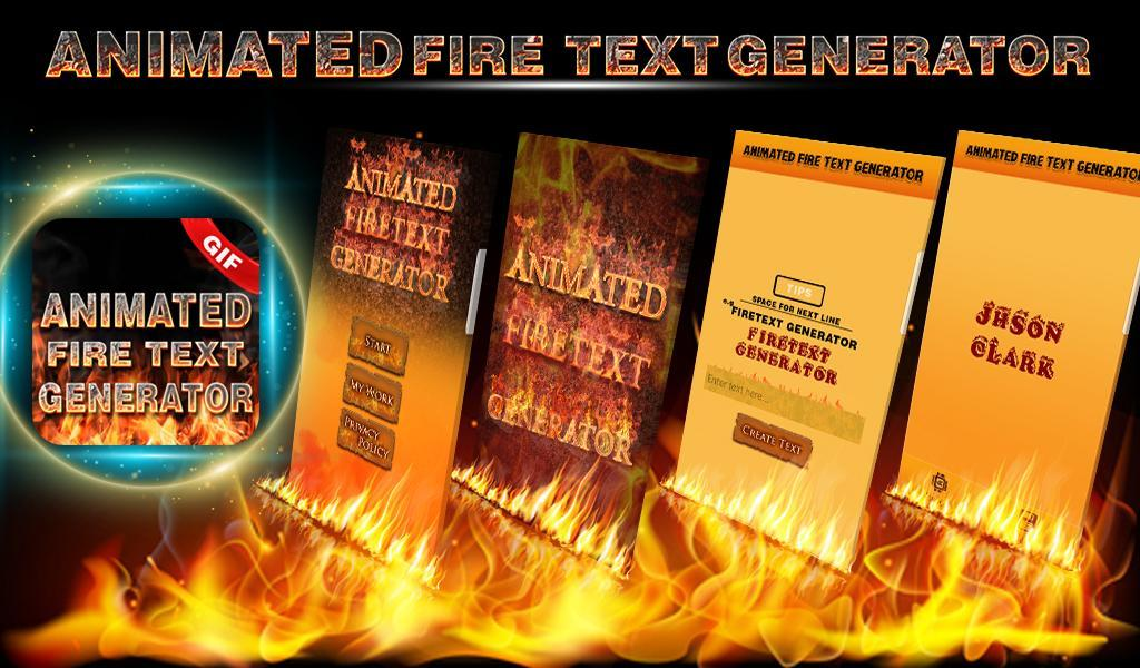Animated Fire Text Generator : Flaming Text for Android - APK Download