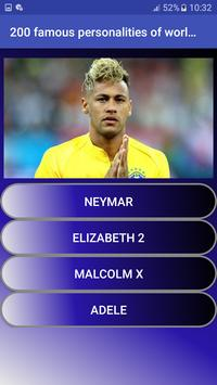 200 famous personalities of world   Quiz screenshot 4