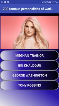 200 famous personalities of world   Quiz screenshot 7
