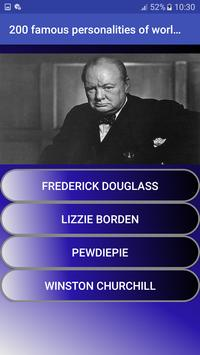 200 famous personalities of world   Quiz screenshot 1