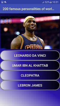 200 famous personalities of world   Quiz screenshot 3